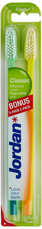 Jordan - Cepillos de dientes clasico duro, 2 unidades: Amazon.es: Salud y cuidado personal