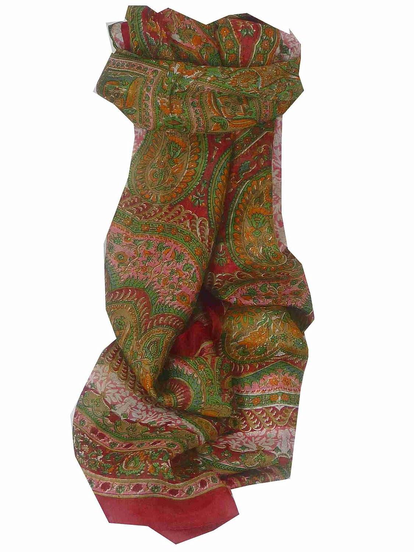 Kotta Long Rose Traditional Silk Scarf by Pashmina & Silk