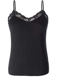 97503ee18c96e Chicwe Women s Plus Size Stretch Chic Modal Jersey Camisole with Lace Trim