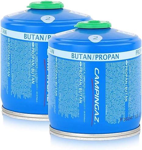 Campingaz Válvula de gas cartucho cv300 Plus 240 g – Butano/Propano Gas (2 unidades)