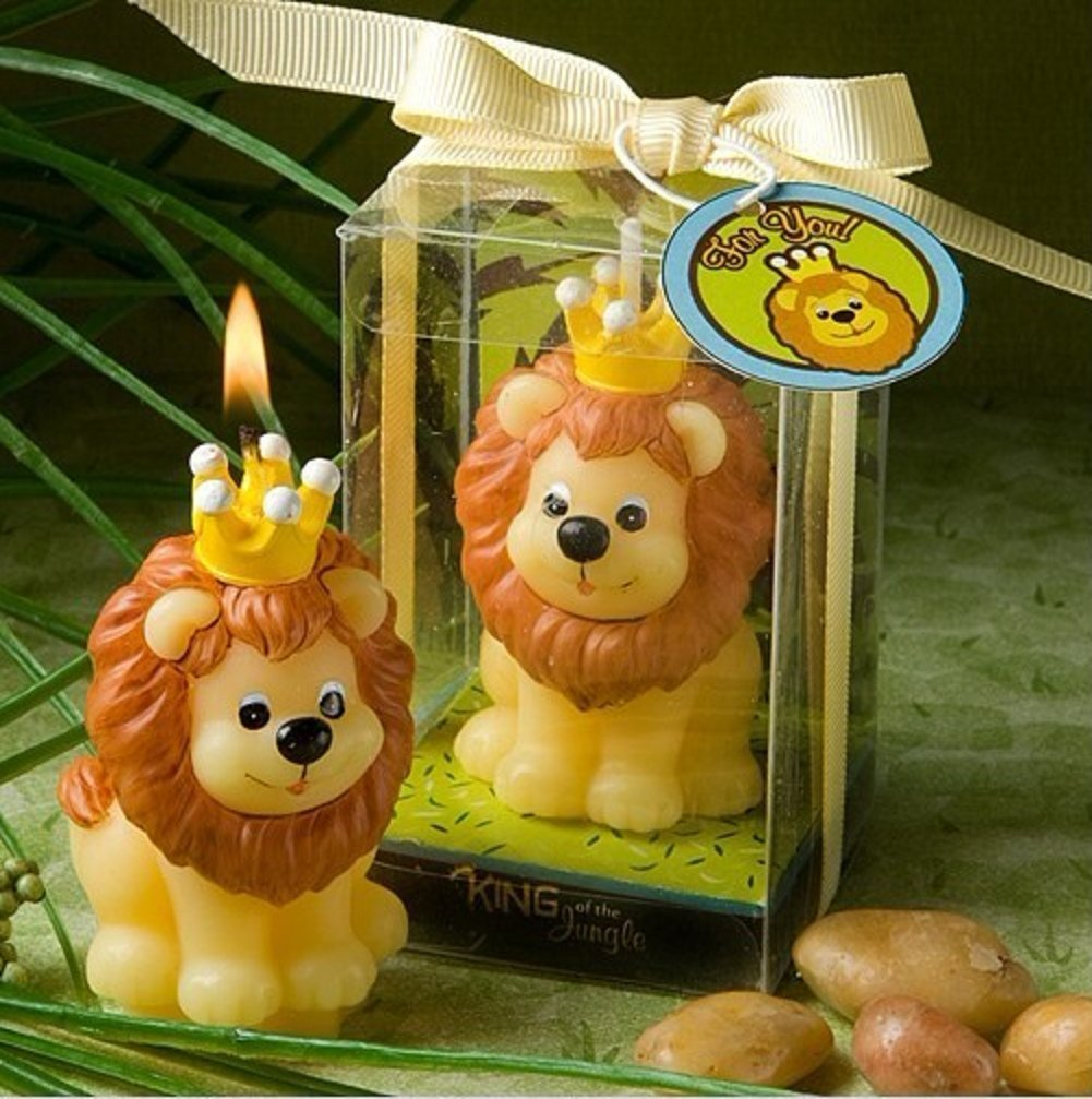 RedC Creative King Lion Cartoon birthday Candle, Smokeless Cake candle and Party Supplies, Hand-made Cake Topper Decoration, Great Gift