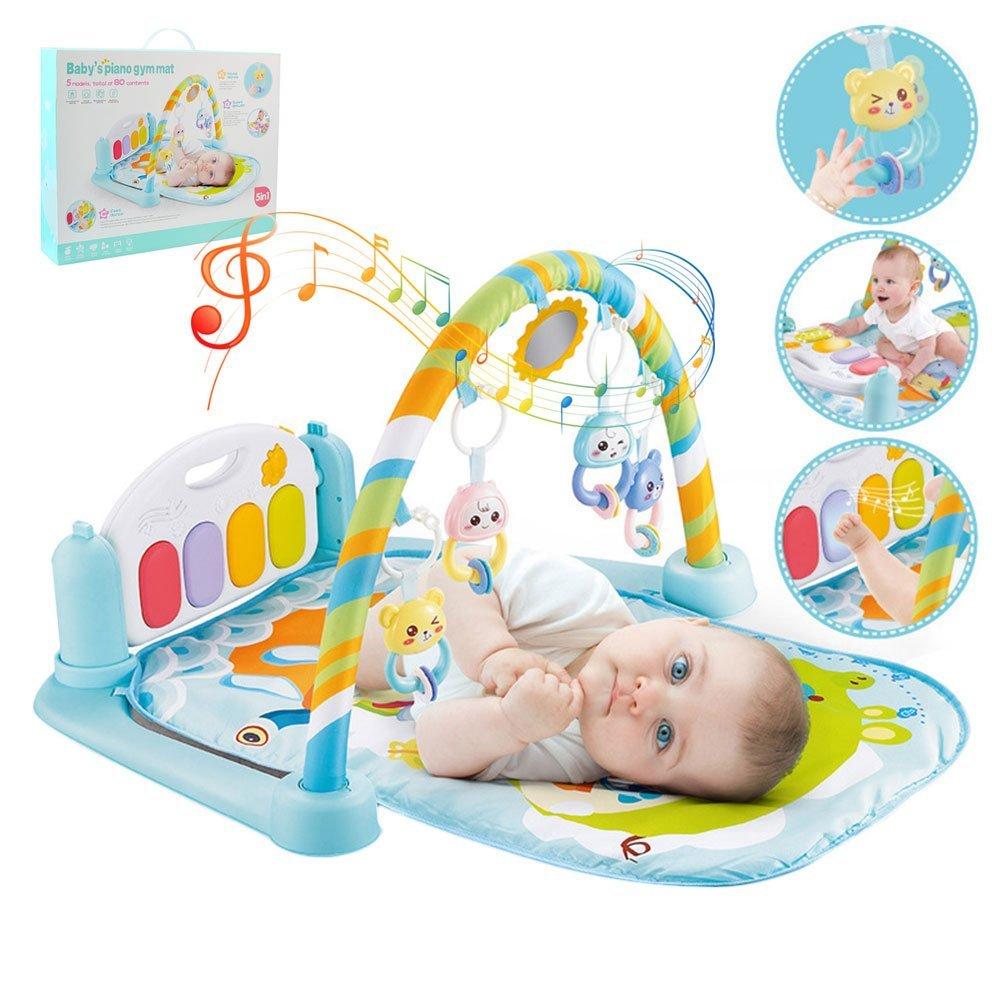 2018 Verbesserte Baby Kick and Play Klavier Gym Lay /& Play Mat Musical Aktivit/ät Gym Blau Luerme