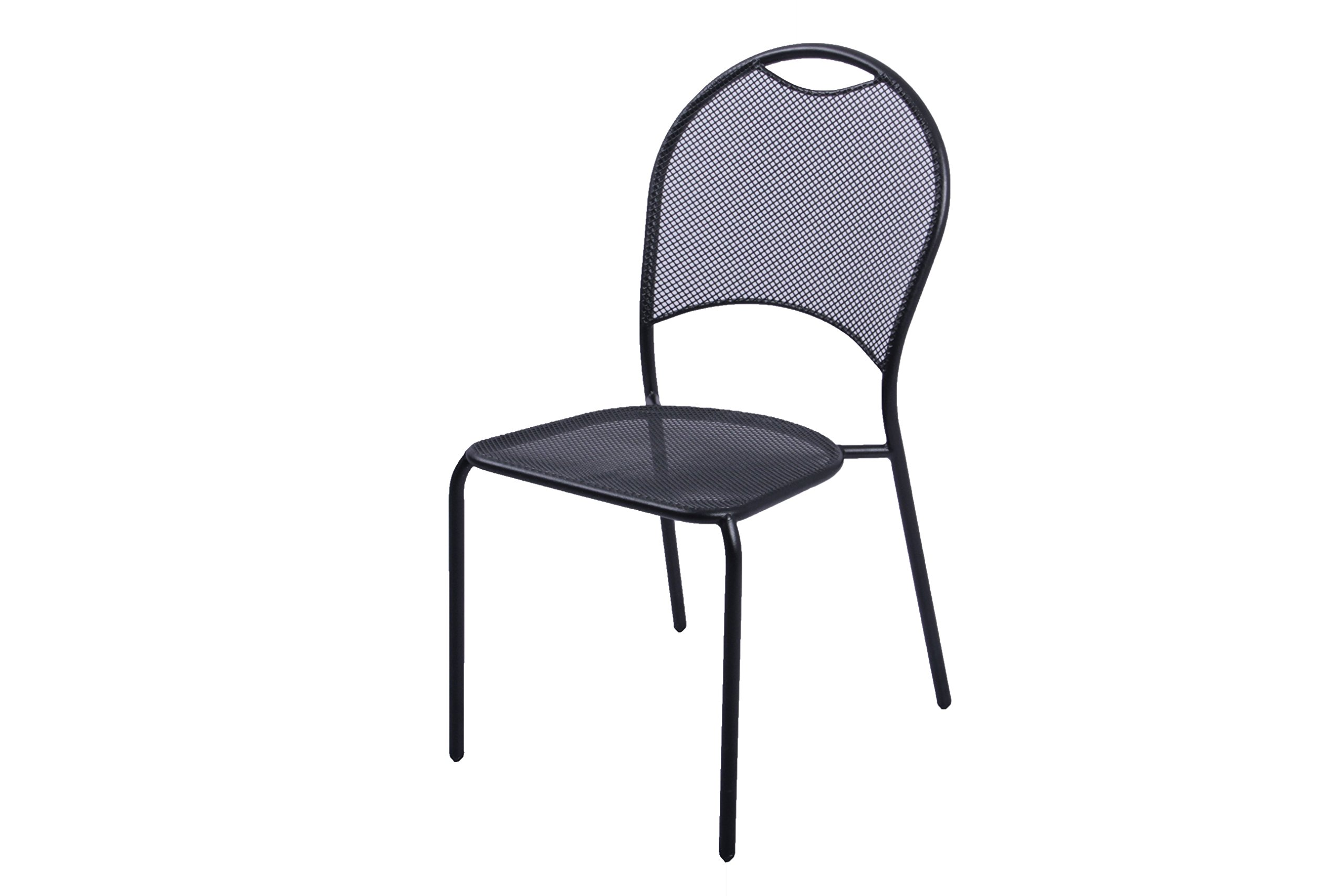 Plantation Prestige Commercial Furniture 2150700-0450 Barkley Side Chair, Steel Material Type, Charcoal