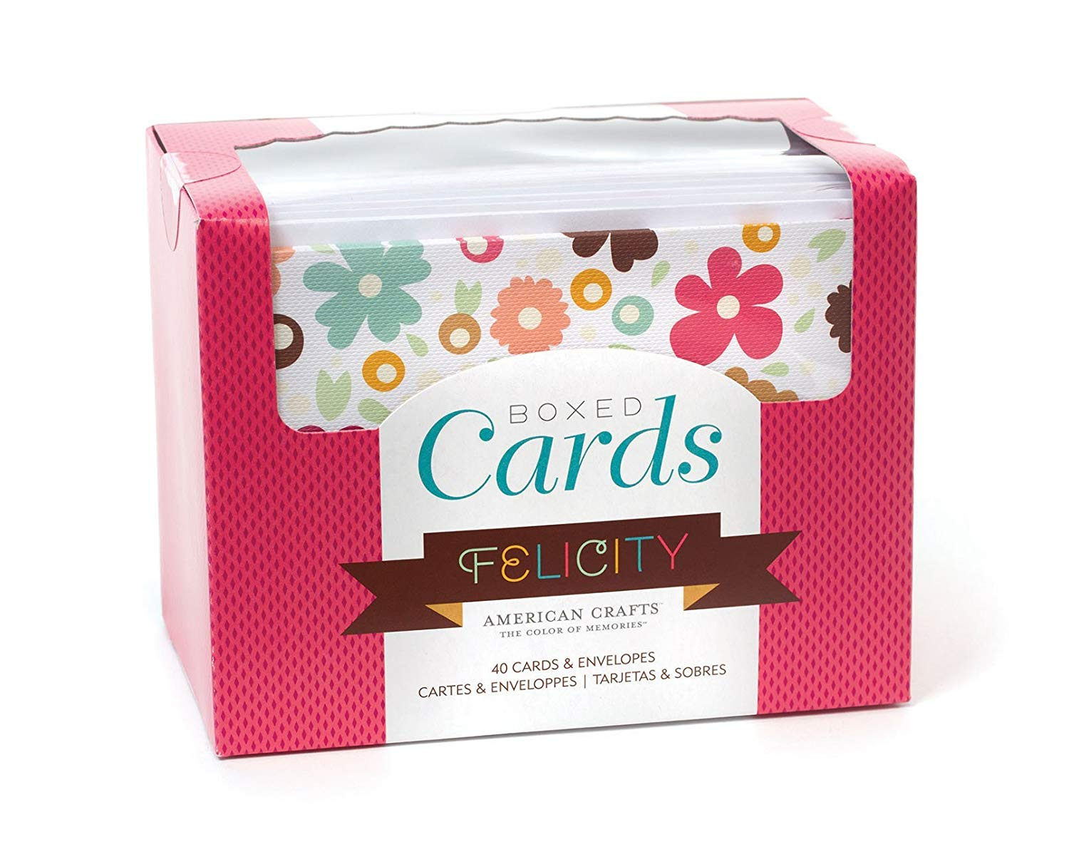 American Crafts llc Boxed Cards and Envelopes Includes 40 Cards and envelopes. Various Designs.