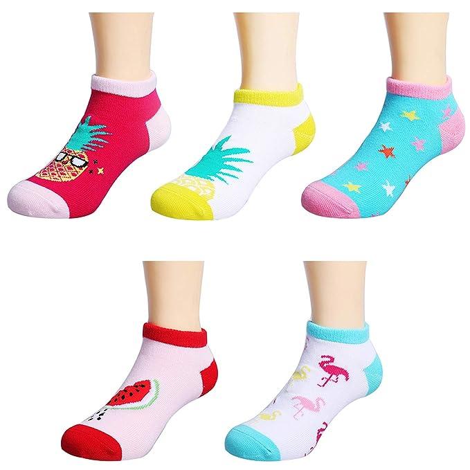 5 Pairs Summer Striped Pattern Low Cut Mesh Socks Boy Girl Kid Child Cotton 1-9T