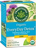 Traditional Medicinals Organic Lemon Everyday DetoxTea, 16 bags (Pack of 6)