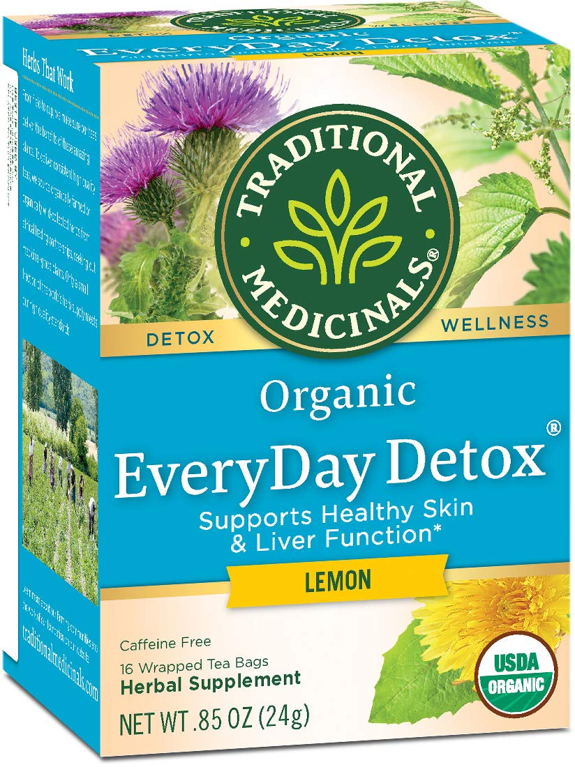 Traditional Medicinals Organic Everyday Lemon Detox Tea, 16 bags (Pack of 6) by Traditional Medicinals