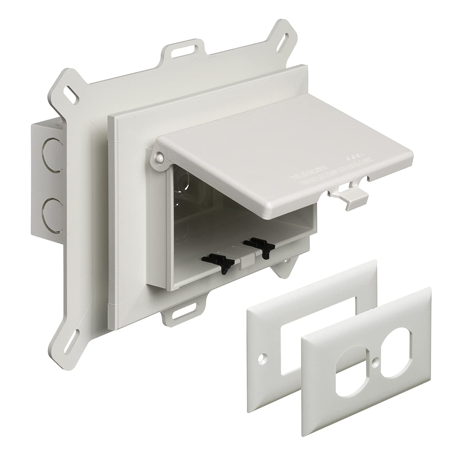 Arlington DBVS1W-1 Low Profile IN BOX Recessed Outlet Box Wall Plate ...