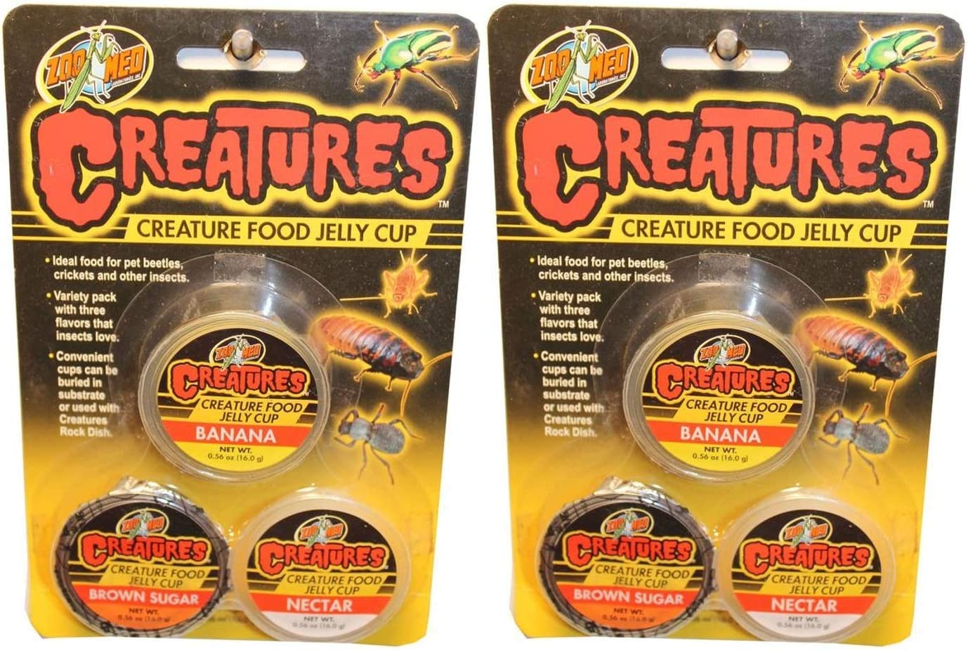 Zoo Med Creatures 2 Pack of Creature Food Jelly Cups, 3 Cups Per Pack