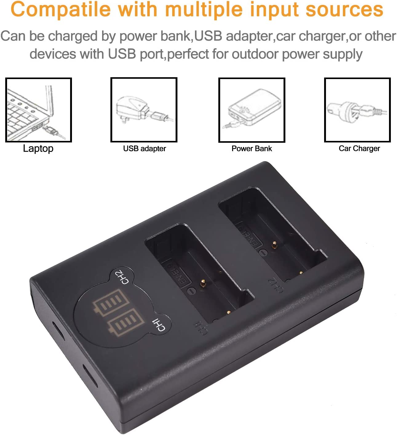 Dste 2x En El9 Ersatz Batterie Duales Usb Ladegerät Elektronik