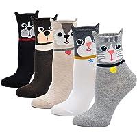 Calcetines de Algodón Mujer Calcetines Térmicos, Calcetines de Animales Lindos Mujer Calcetines de Divertidos…