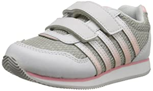 k-SWISS New Haven Strap Sneaker (Infant/Toddler), White/Crystal Rose/Grey, 6.5 M US Toddler