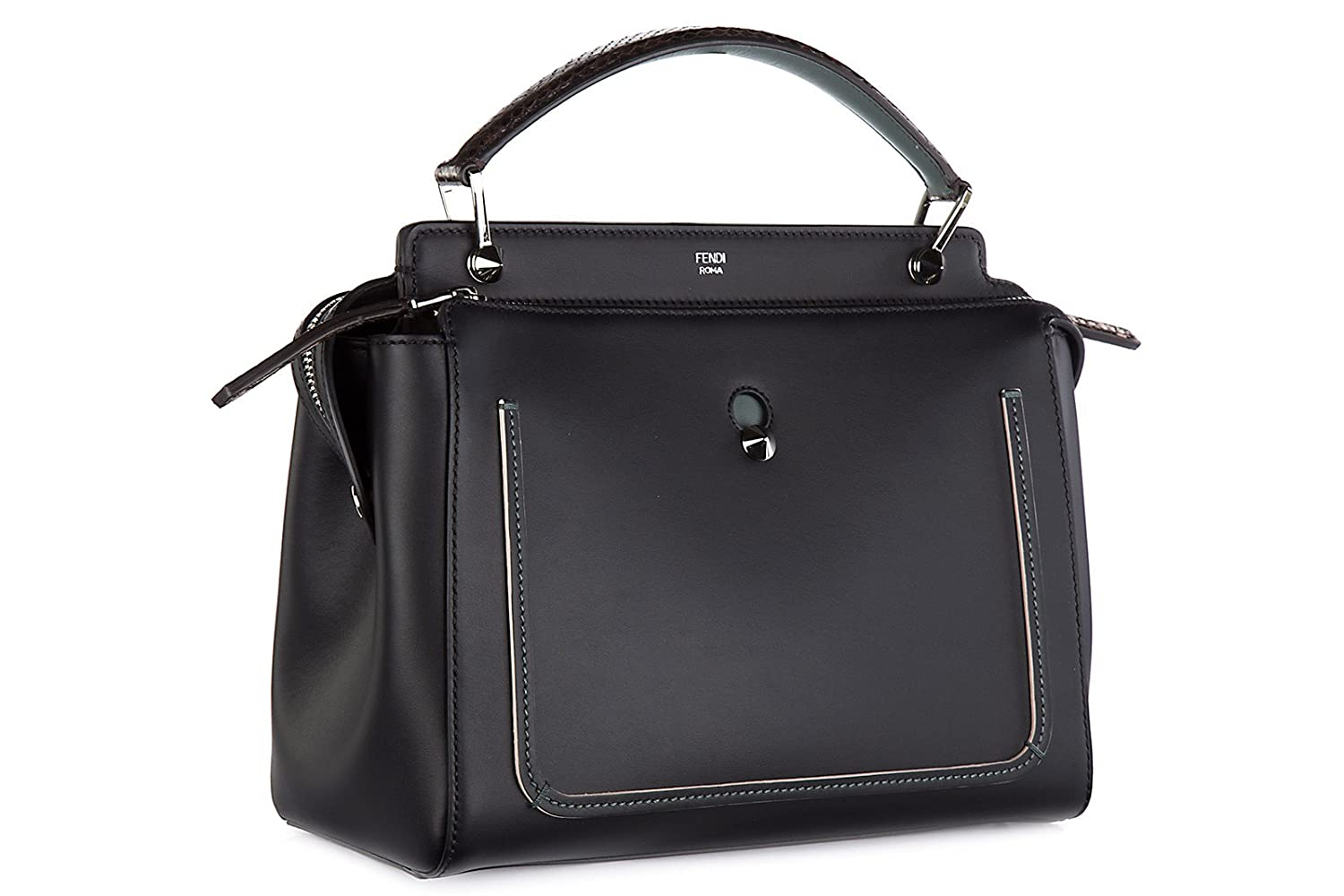 Fendi women s leather handbag shopping bag purse dotcom black  Handbags   Amazon.com e98f5d4972fb3