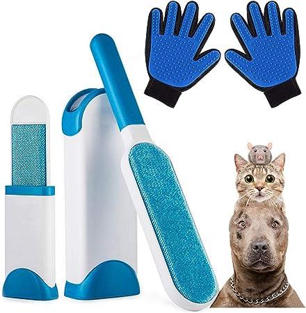 AidSci Guante de Mascotas + Kit de Cepillo de Limpieza de Mascotas, Mascotas Perros Gatos Manopla Masaje para Mascotas Retiro del Pelo, Un par de Guantes: Amazon.es: Productos para mascotas