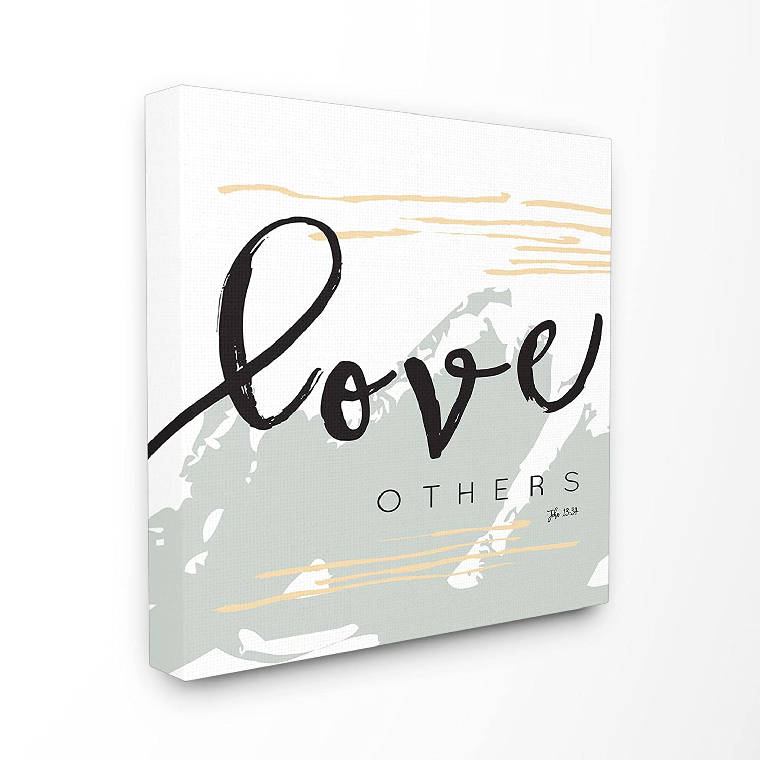 24 x 1.5 x 24 Proudly Made in USA Stupell Home D/écor Love Others John 13:34 Oversized Stretched Canvas Wall Art by EtchLife