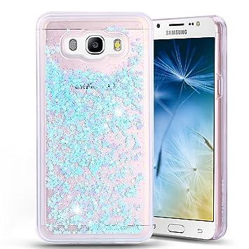 Anfire Funda para Samsung Galaxy J7 2016 Carcasa Glitter Silicona Líquido Arenas Movedizas TPU Case Transparente Cubierta Caja Sparkle Claro Cristal ...