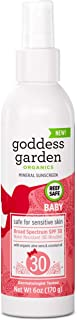 product image for Goddess Garden - Baby SPF 30 Mineral Sunscreen Pump Spray - Sensitive Skin, Reef Safe, Zinc and Titanium, Broad Spectrum, Water Resistant, Non-Nano, Vegan, Leaping Bunny Cruelty-Free - 6 oz Bottle