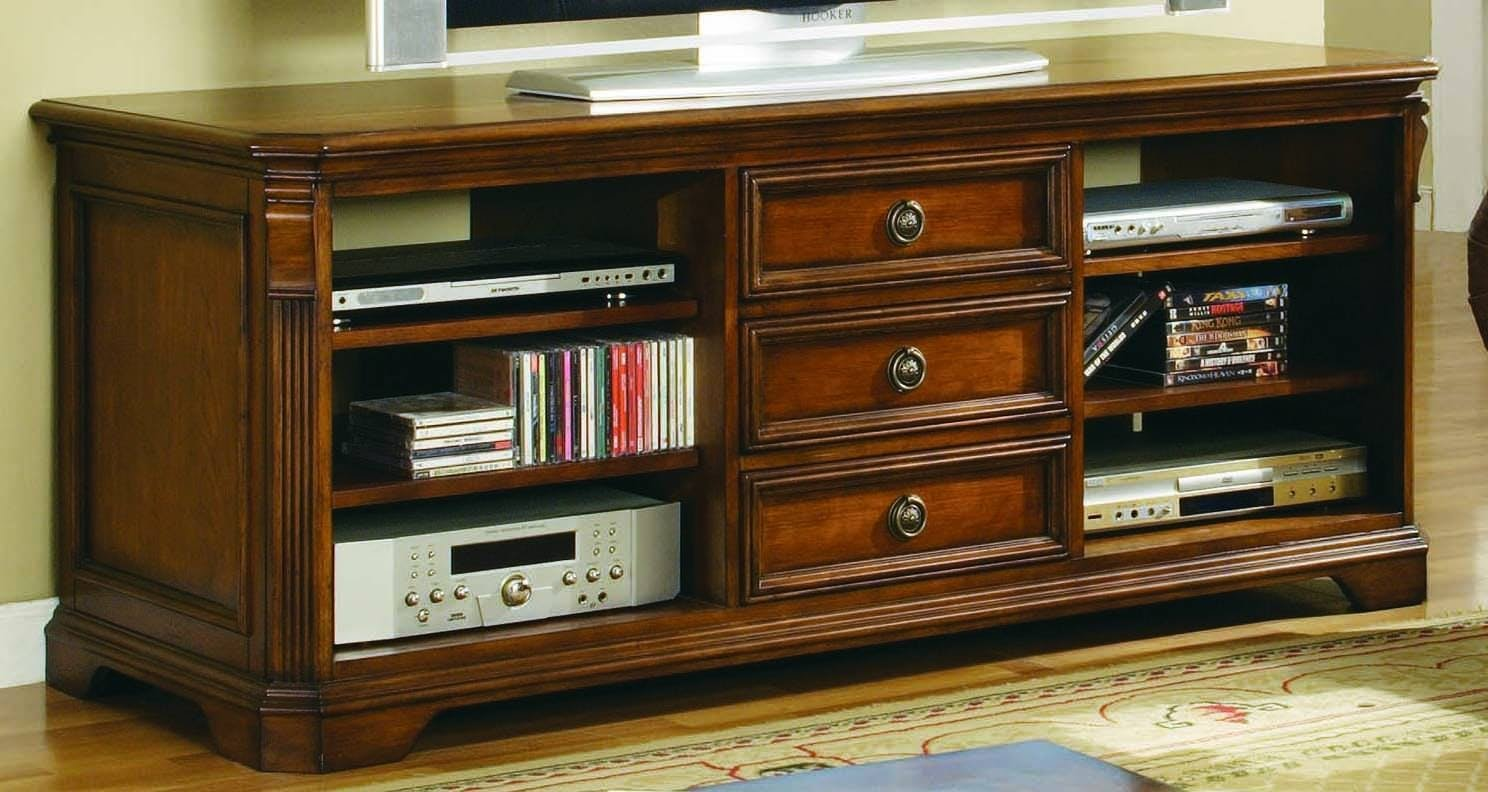 Hooker Furniture Brookhaven 64 TV Console, Medium Wood