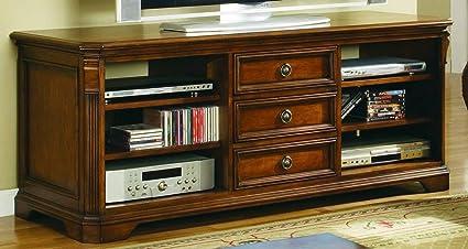 Hooker Furniture 281 55 458 Brookhaven 64u0027u0027 TV Console, Medium Wood