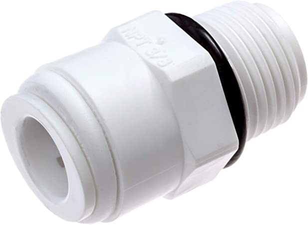 """1//4/"""" push to connect x 3//8/"""" NPTF 3 Pack RO Elbow Water Fitting"""