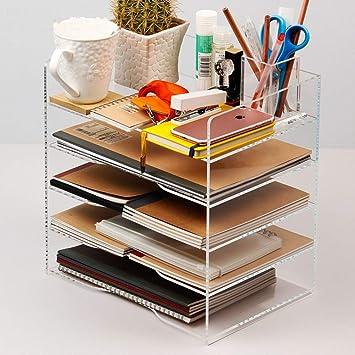 Clear Acrylic Magazine Holder Display Stand//File Folder Storage Organizer Rack
