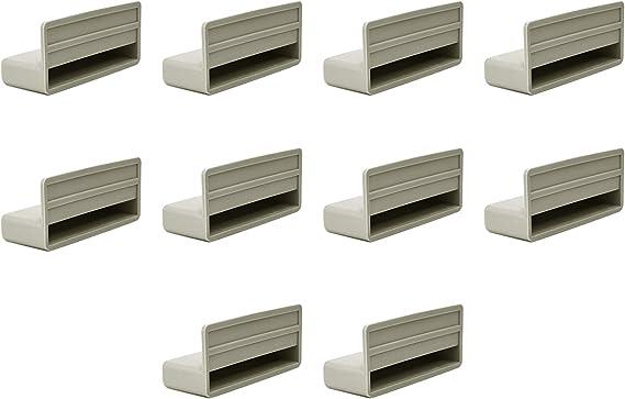 Tapas de soporte para listones de cama de 70 mm, tapas para marcos de madera (paquete de 10)