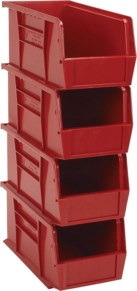 Amazon Com Quantum Heavy Duty Storage Bins 4 Pk Red