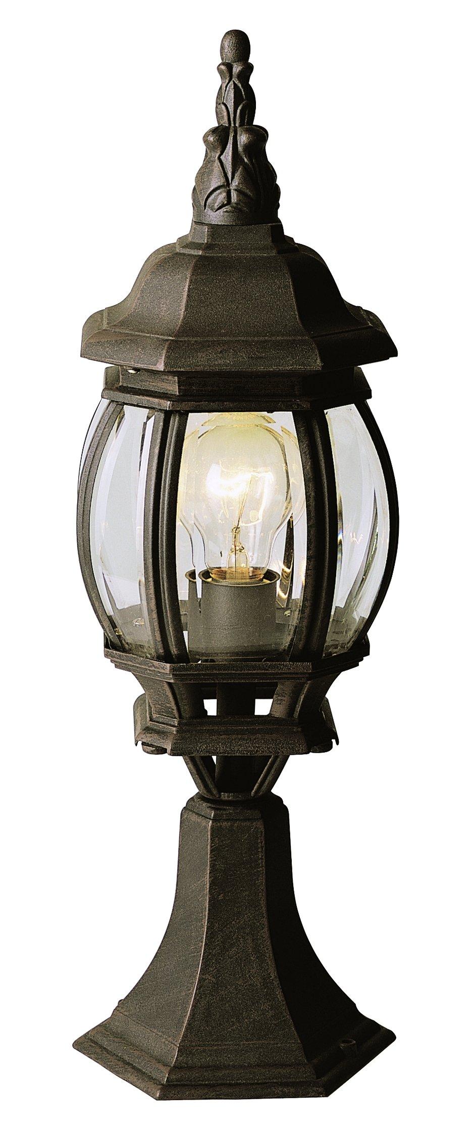 Trans Globe Lighting 4070 SWI Outdoor Francisco 20.5'' Postmount Lantern, Swedish Iron