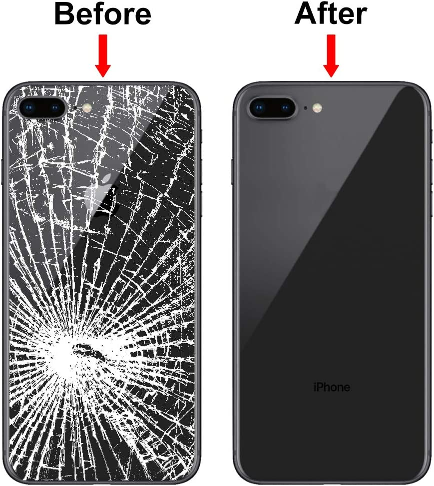 5.5 inch Glass Rear Housing Black MMOBIEL Battery Back Cover Replacement Compatible with iPhone 8 Plus