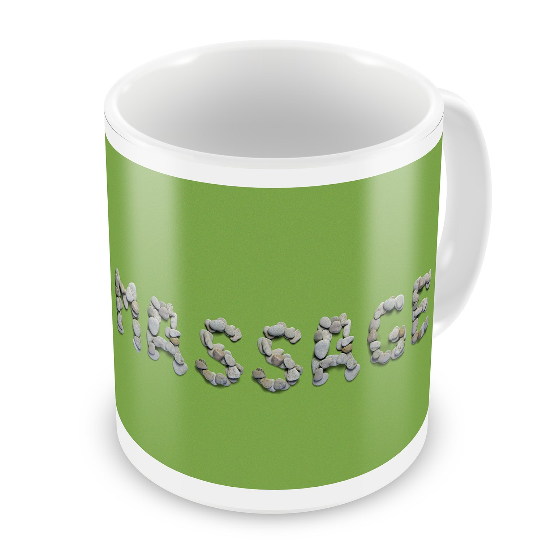 Coffee Mug Massage Spa Stones Rocks - NEONBLOND