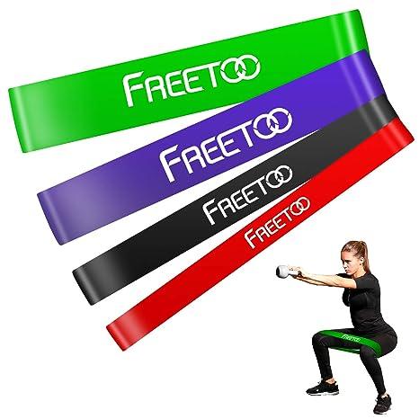 FREETOO Bandas de Resistencia de Goma Fitness Cinta de Resistencia ...
