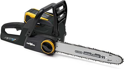 Mowox MNA1271 40V Battery Powered Chain Saw with Tool-Free Chain Tension Battery Charger Included