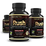 #1 Booster Supplement – Enhance Stamina, Strength, Energy & Muscle Mass - RUSH by Neovicta - Powerful All Natural Support - 60 Count - Money Back Guarantee