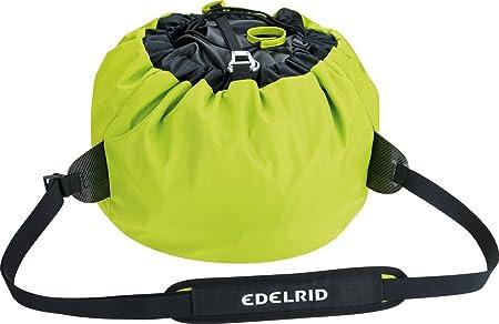 EDELRID 721130002190 Crag II - Bolsa para Cuerda de Escalada (36 x 34 x 7 cm), Color Gris y Verde