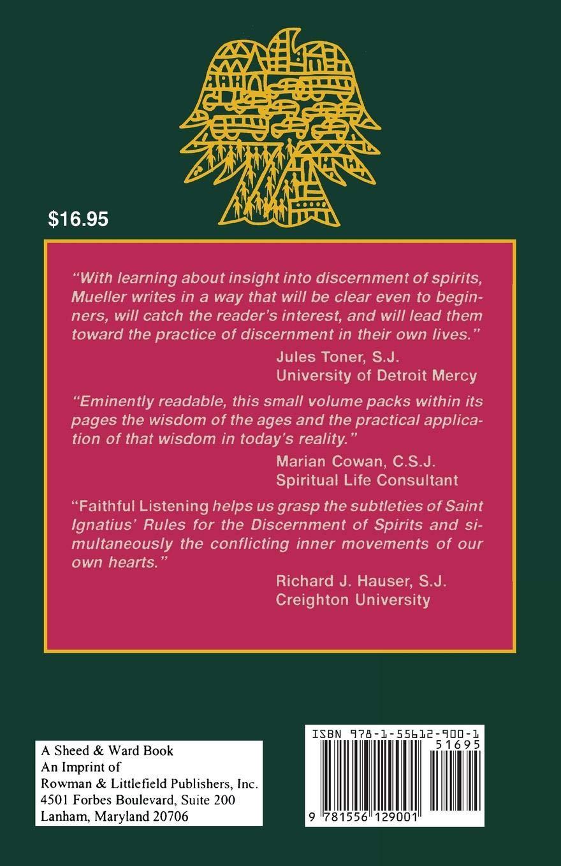 Amazon.com: Faithful Listening: Discernment in Everyday Life: Discernment  in Everyday Life (9781556129001): Joan Mueller: Books