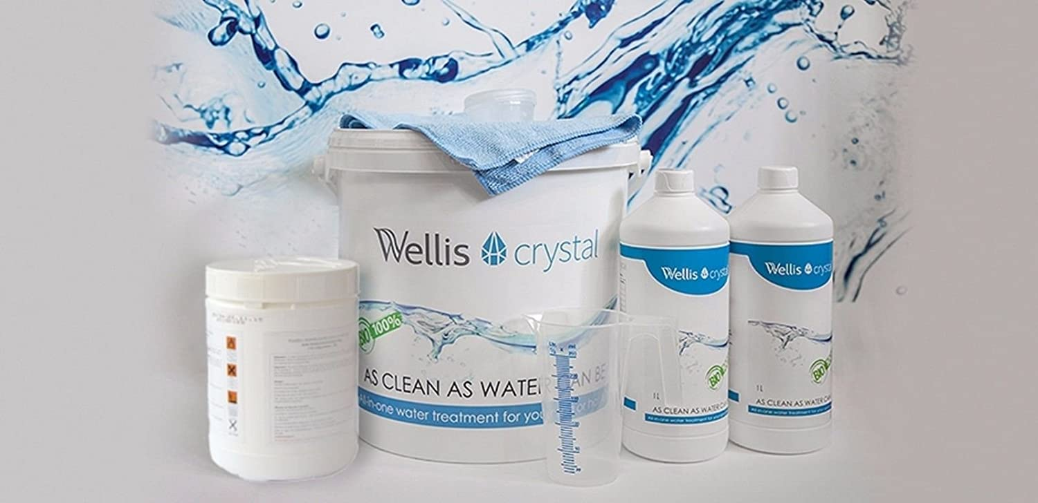 WELLIS CRYSTAL - ONCE A WEEK TREATMENT HOT TUB CHEMICALS SPA ...