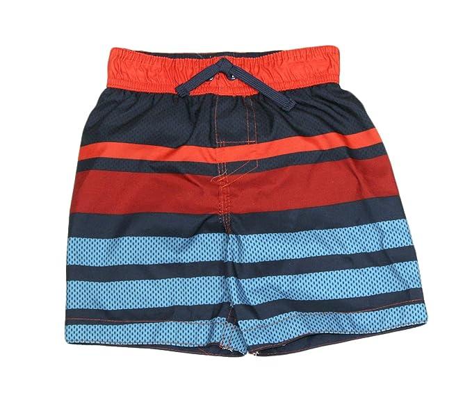77bb2b9df86c2 Okie Dokie Toddler Boys Swim Trunks Board Shorts Swimwear (Orange Navy