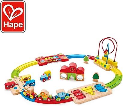 Hape HAP-E3816 Rainbow Route Railway and Station Set