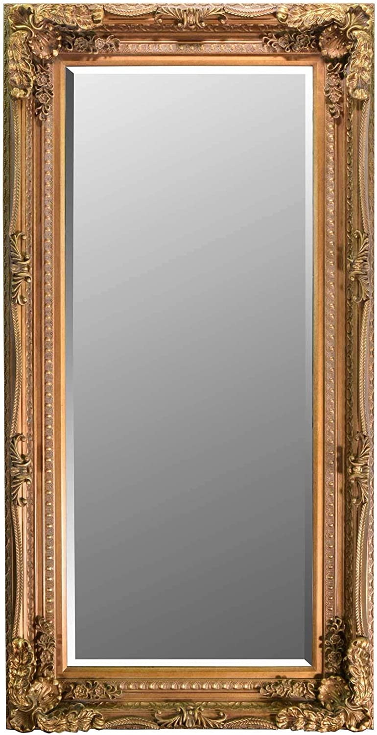 6ft X 3ft 175x89cm Large Gold Decorative Antique Style Wall Mirror New Rectangle Amazon Co Uk Kitchen Home