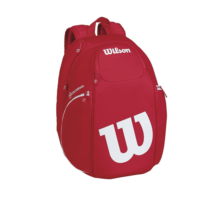 ウィルソン テニス バッグ VANCOUVER BACKPACK (ラケット2本収納可能) B072YBXSXL 26×29×50cm|レッド レッド 26×29×50cm