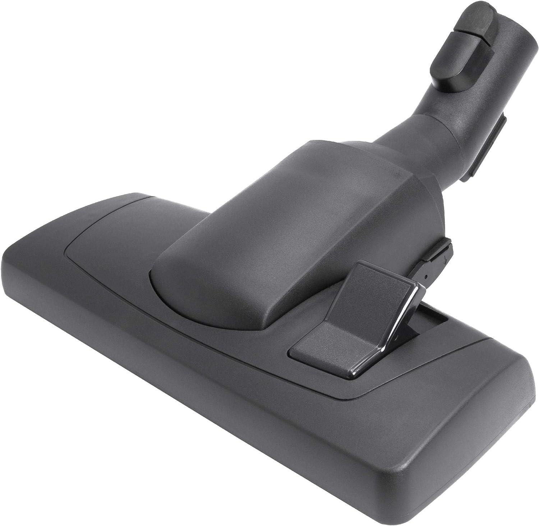 vhbw bocchetta spazzola 28cm per aspirapolvere attacco rotondo 35mm compatibile con Miele ALLERGY HEPA 1800 S388 700 S718 PLUS S518-1 nero