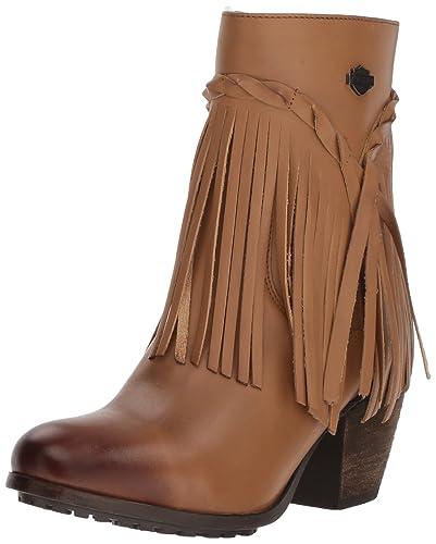 b57aeeae3e1352 Harley Davidson Womens Retta Leather Closed Toe Ankle Fashion Boots ...