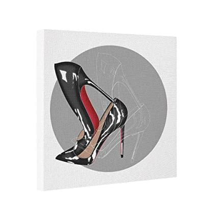 ca49139ddd6 Image Unavailable. Image not available for. Color  Yolana Red Bottoms  stilettos shoes black high heels ...