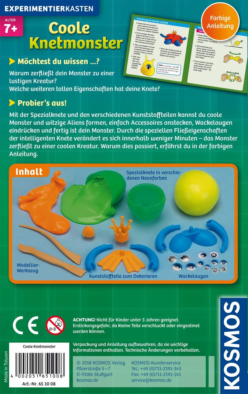 Basteln & Kreativität Kosmos Mitbring-Experiment Coole KnetmonsterKneten für Kinder ab 8 Jahre