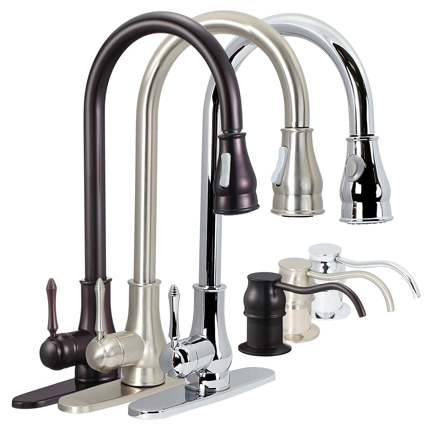 FREUER Bella Classico Collection Pull Out Spray Kitchen Sink