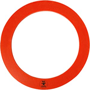 """4"""" Diameter Red Silicone Rubber Perforated Vacuum Casting Gasket"""