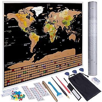 Anpro Weltkarte Zum Rubbeln Rubbel Weltkarte Rubbel Landkarte