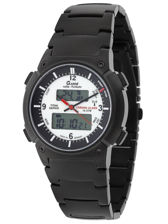 Funkuhr Garde FU-Business-Alarm 20-16CM - Titan - Saphir - Chrono