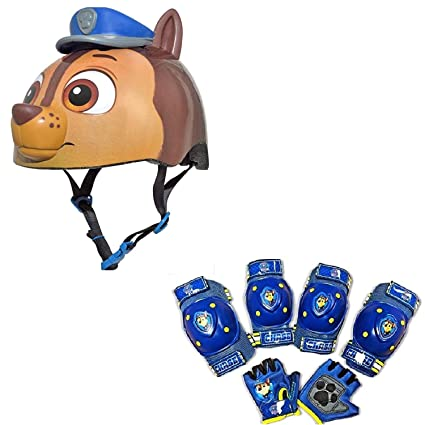 c1fd42c1a77 Amazon.com : Nickelodeon Paw Patrol Toddler Bike / Skate Helmet Pads &  Gloves - 7 Piece Set : Sports & Outdoors
