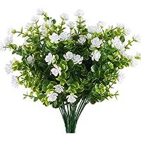MIHOUNION HUAESIN Ramas eucalipto Plantas Verdes Artificiales Flores de plastico Arbusto plastico Plantas Falsas para…